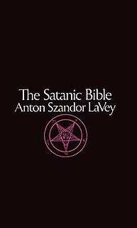 <i>The Satanic Bible</i> religious text of LaVeyan Satanism