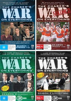 The Chaser's War on Everything - Four Chaser's War On Everything DVDs from the first two seasons