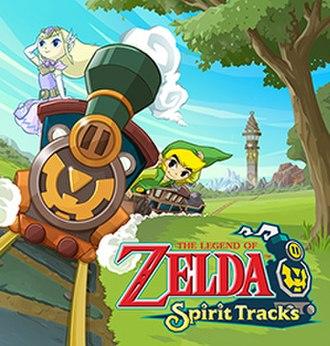 The Legend of Zelda: Spirit Tracks - North American box art