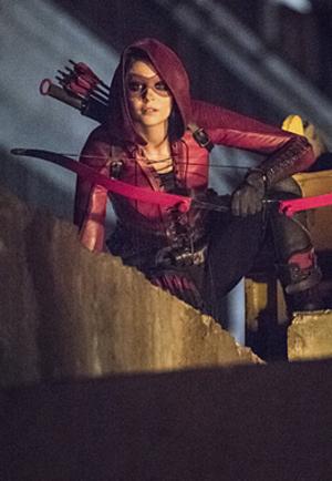 Speedy (Mia Dearden) - Willa Holland as Thea Dearden Queen on Arrow in her Speedy costume.