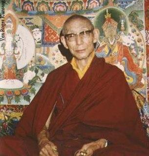 Trijang Lobsang Yeshe Tenzin Gyatso Buddhist lama (1901-1981)