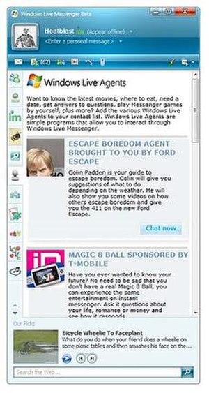 Windows Live Agents - Windows Live Agents within Windows Live Messenger