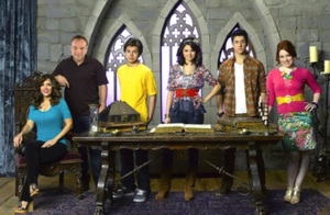 Wizards of Waverly Place - The fourth season main cast (left to right): Maria Canals Barrera, David DeLuise, Jake T. Austin, Selena Gomez, David Henrie and Jennifer Stone.