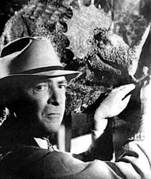 Willis H. O'Brien - O'Brien on the set of Son of Kong.