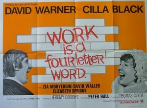 "film poster for ""Work Is a Four-Letter Wo..."