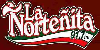 XHBU-FM - Image: XHBU La Nortenita 91.7 logo