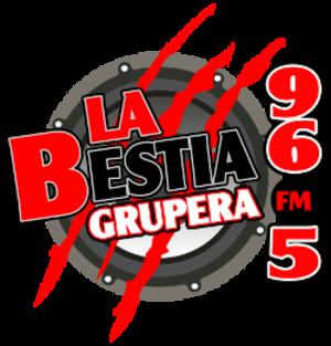 XHITA-FM - Image: XHITA La Bestia Grupera 96.5 logo
