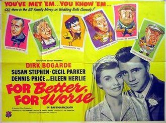 For Better, for Worse (1954 film) - British theatrical poster