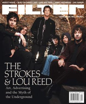 Filter (magazine) - The Strokes and Lou Reed on the cover of the Winter 2004 issue of Filter.