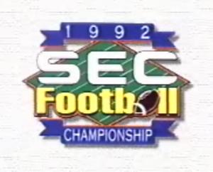 1992 SEC Championship Game - 1992 SEC Championship logo.