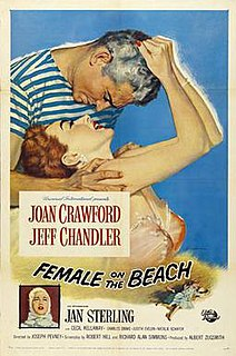 <i>Female on the Beach</i> 1955 film by Joseph Pevney