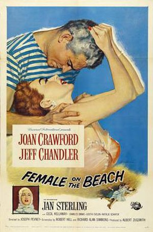 Female on the Beach - Film poster by Reynold Brown
