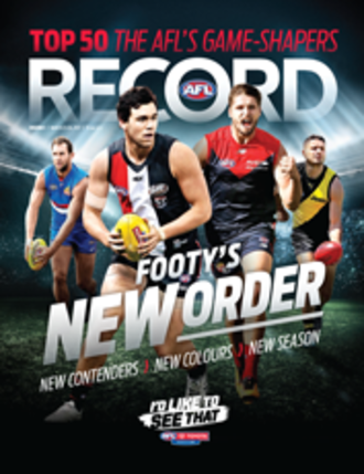 AFL Record - AFL Record cover from 23 March 2017