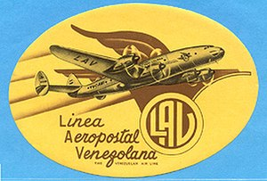 Aeropostal Alas de Venezuela - Aeropostal 1950s Logo