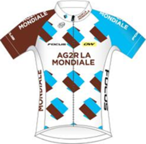 AG2R La Mondiale - Image: Ag 2r La Mondiale jersey