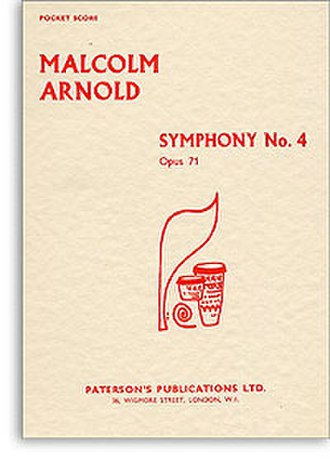 Symphony No. 4 (Arnold) - Cover of the printed score of Malcolm Arnold's Symphony No. 4