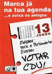 "CDU sticker: ""Mark your calendar and tell your friends: on 13 June, vote CDU for the European Parliament"""