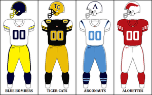 2009 CFL season - East Division Retro Jerseys