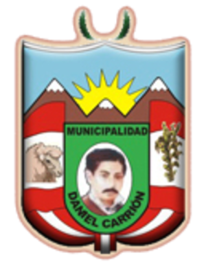 Daniel Alcides Carrión Province - Image: COA Daniel Alcides Carrión Province in Pasco Region