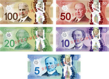 Canadian Frontier Banknotes faces