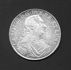 Charles I, Duke of Brunswick-Wolfenbüttel - Silver coin of Charles I, dated 1764.