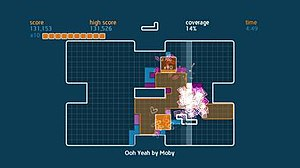 Chime (video game) - Screenshot of Time Mode on Moby level