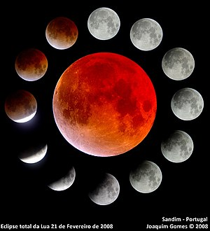February 2008 lunar eclipse - Image: Composicao