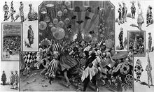Trajes de baile dazzle de 1919