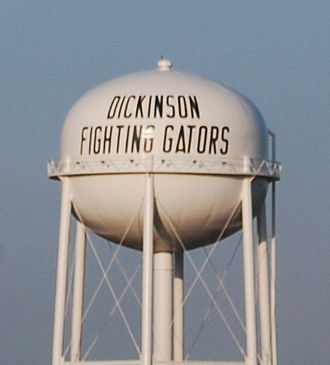 Dickinson, Texas - Dickinson, Texas water tower.
