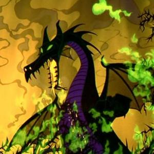 Maleficent - Maleficent transformed into a dragon at the film's climax
