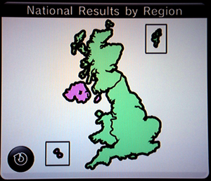 Everybody Votes Channel - Results for the question of whether the chicken or the egg came first: the majority of England, Scotland and Wales believe the egg came first; while the majority in Northern Ireland, the Channel Islands and the Isle of Man believes it was the chicken.