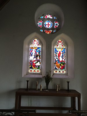 Temple, Cornwall - Image: East window of the church at Temple, Cornwall