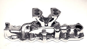 Edelbrock - Edelbrock's first commercial product: The Slingshot manifold