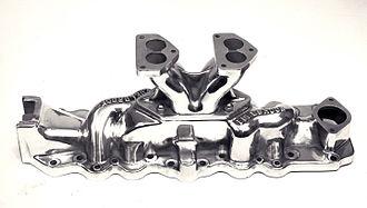 Edelbrock - Edelbrock's first commercial product: The Slingshot manifold