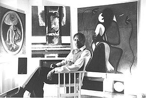 Eugene J. Martin - Martin, self-portrait, 1990