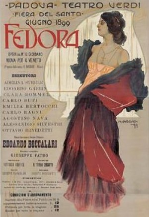 Fedora (opera) - Poster for the 1899 performances  at the Teatro Verdi, Padua