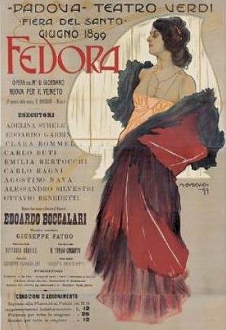 Fedora (opera) - Poster for the 1899 performances  at the Teatro Verdi, Padua