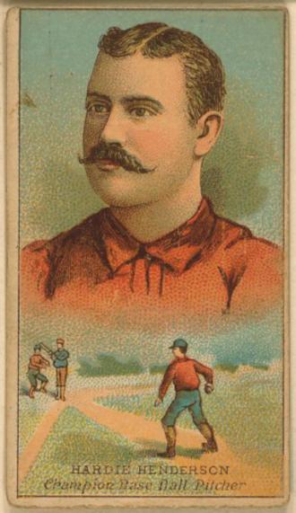Hardie Henderson - Image: Hardie Henderson (1888 baseball card)