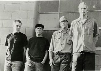 Heatmiser - Heatmiser publicity photo for Frontier Records; photo by JJ Gonson. From left: Tony Lash, Elliott Smith, Brandt Peterson, and Neil Gust.