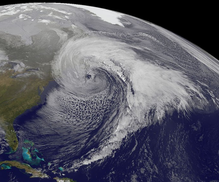 GOES-13 Imagery of an intense Nor'Easter that impacted the North East US on 26 March 2014 and produced recorded gusts of 101mph+ Intense Nor'Easter over the N. Alantic on Mar 26, 2014.png