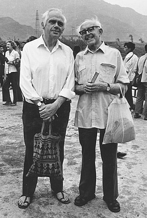John S. Beckett - John Beckett (left) and Cathal Gannon in China, 1980