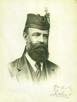 James Small (Scottish laird) - James Small in cap with clan badge