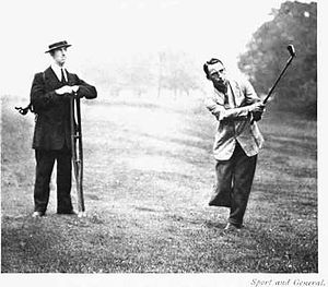 Ernest Jones (golfer) - Image: Jones one leg
