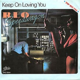 Keep On Loving You (song) - Image: Keep On Loving You vinyl 7'