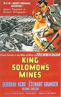 <i>King Solomons Mines</i> (1950 film) 1950 film by Andrew Marton, Compton Bennett