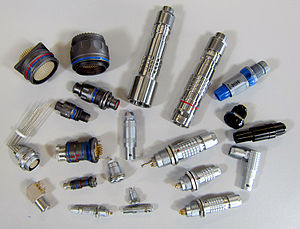 LEMO - A selection from the LEMO electronic and fibre optic range of connectors
