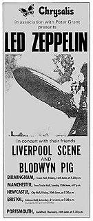 Led Zeppelin United Kingdom Tour Summer 1969