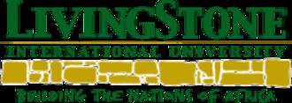 LivingStone International University - Image: Living Stone International University logo