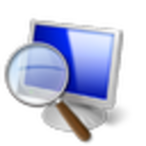 Magnifier (Windows) - The pre-Windows 10 icon.