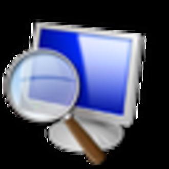 Magnifier (Windows) - The pre-Windows 10 icon.